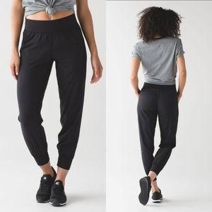 LULULEMON Black Sweat To Street Nylon Jogger Pant
